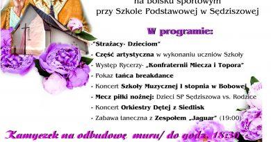 Festyn Rodzinny w Sędziszowej już w niedziele!- Zaproszenie