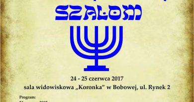 Dni Bobowej z Kulturą Żydowską SZALOM- Zaproszenie