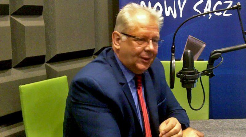 Burmistrz Wacław Ligęza w radiu RDN Nowy Sącz