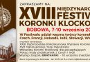 XVIII Międzynarodowy Festiwal Koronki Klockowej- Zaproszenie
