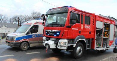 Kolizja pojazdów na ul. Węgierskiej w Bobowej