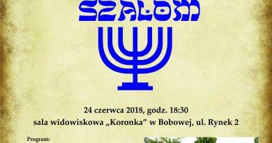 Dni Bobowej z Kulturą Żydowską SZALOM Bobowa 2018- Zaproszenie