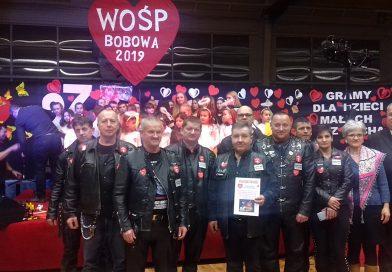 Udział Bobowskiej Grupy Motocyklowej w 27 finale WOŚP w Bobowej