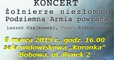 """Koncert """"Żołnierze niezłomni. Podziemna Armia powraca"""" – zaproszenie"""