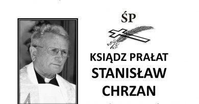 Zmarł śp. ks. Stanisław Chrzan