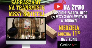 Niedziela Palmowa 05.04.2020 – Transmisja Mszy Świętej z Kościoła Parafialnego w Bobowej