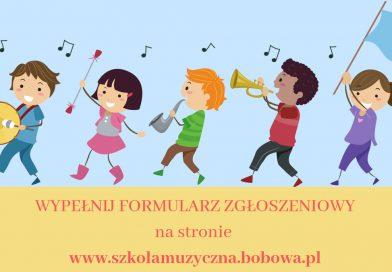 Rekrutacja na rok szkolny 2020/2021 do Szkoły Muzycznej I stopnia w Bobowej