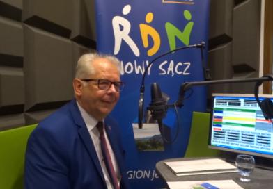 Burmistrz Bobowej Wacław Ligęza w Radiu RDN Nowy Sącz