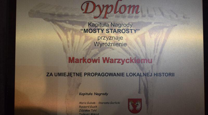 Marek Warzycki laureatem wyróżnienia Mosty Starosty 2021 r.