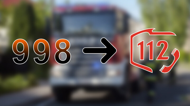 Numer alarmowy 998 zostaje przekazany do Centrum Powiadamiania Ratunkowego w Krakowie