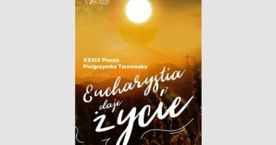 Plakat Szymona Pękali z ZSO w Bobowej będzie promował tegoroczną Pieszą Pielgrzymkę Tarnowską na Jasną Górę
