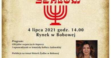Dni Bobowej z Kulturą Żydowską Szalom 2021 – Zaproszenie